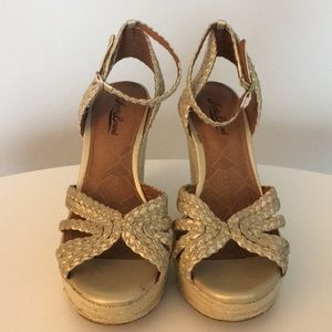 Lucky Brand Gold Wedge's